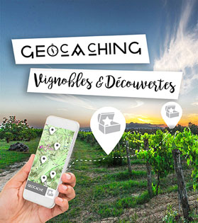 Application Geocaching, telecharger, vignobles et découvertes.