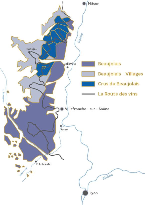 La Route des Vins du Beaujolais.